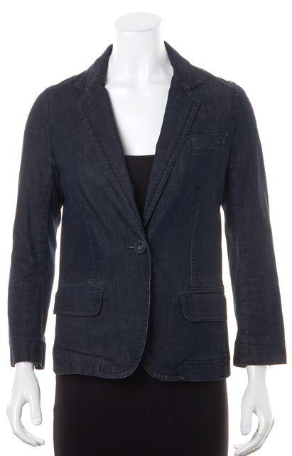 MARC JACOBS Blue Denim Blazer Jacket