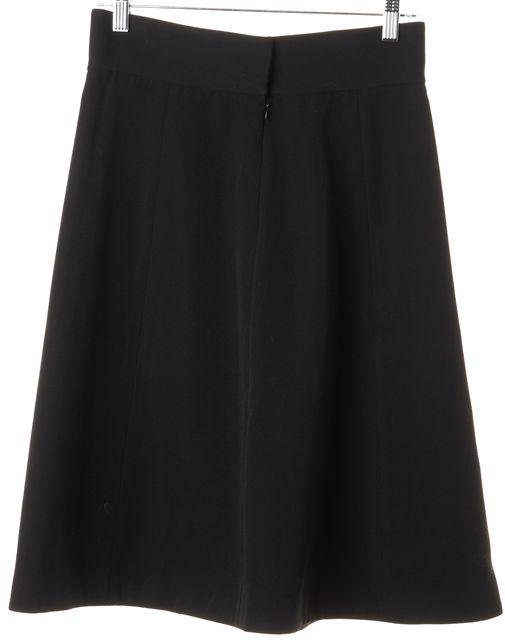 MARC JACOBS Black Wool Straight Skirt