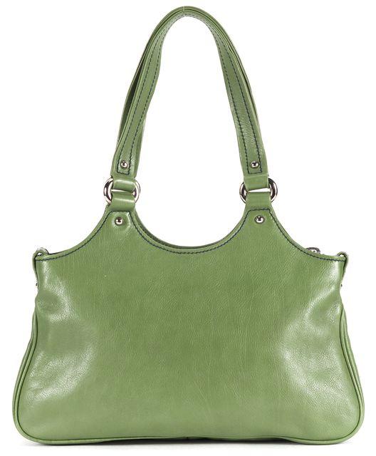 MARC JACOBS Pickle Green Leather Silver Hardware Shoulder Bag