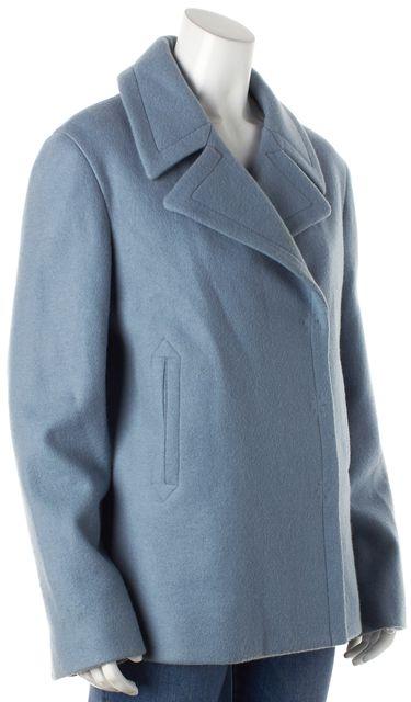 MARC JACOBS Blue Wool Peacoat Jacket