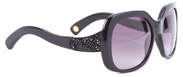 MARC JACOBS Black Crystal Stud Gradient Square Sunglasses
