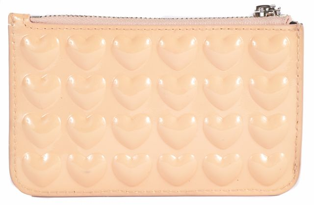 MARC JACOBS Beige Patent Leather ID Holder Card Case