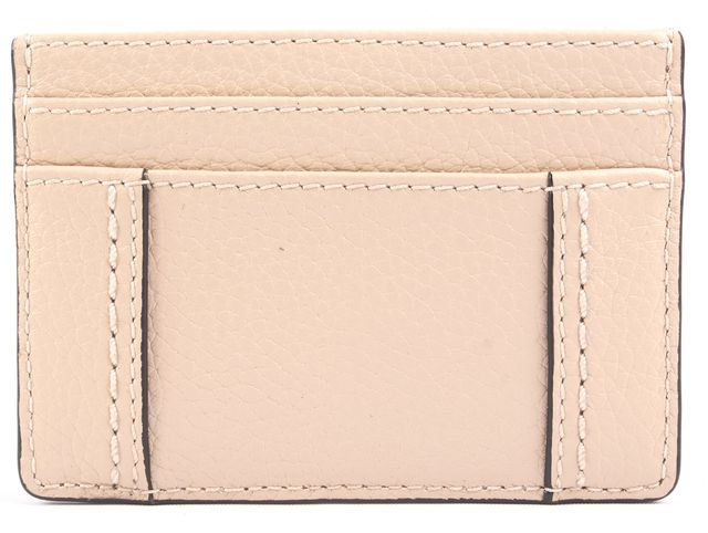 MARC JACOBS Beige Leather ID Holder Card Case