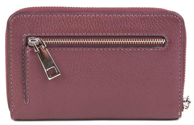 MARC JACOBS Purple Leather Wallet