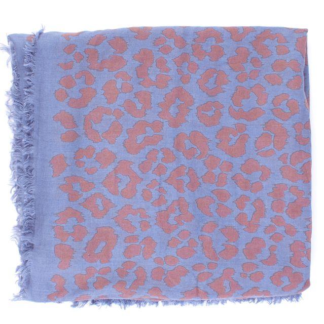 MARC JACOBS Blue Animal Print Scarf