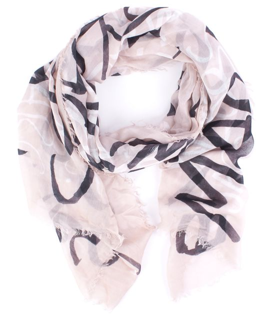 MARC JACOBS Beige Abstract Scarf