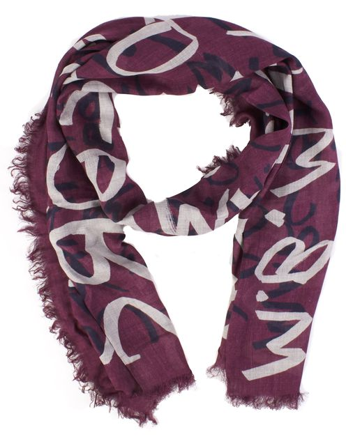 MARC JACOBS Purple Abstract Scarf