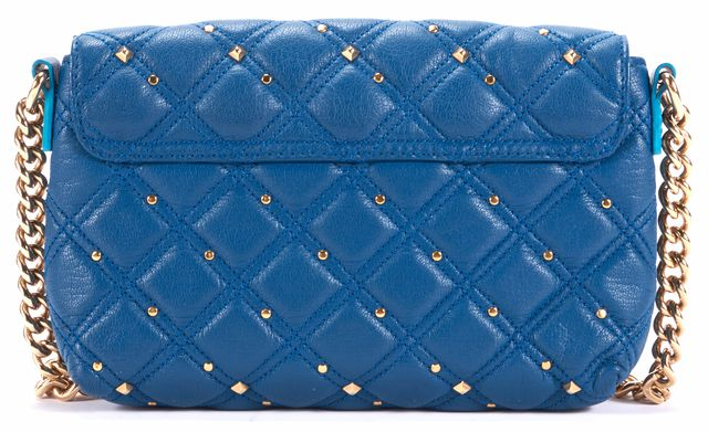MARC JACOBS Cobalt Blue Quilted Leather Gold Hardware Crossbody