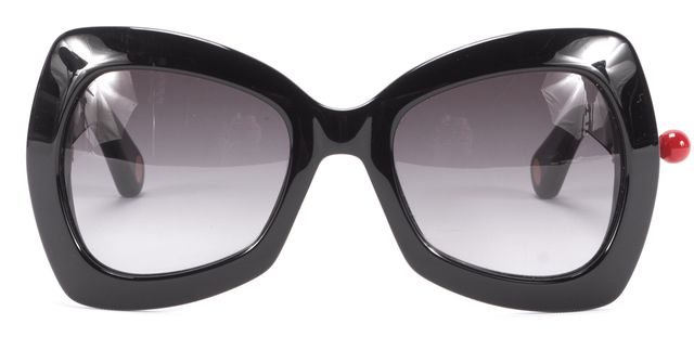 MARC JACOBS Black Square with Red Ball Sunglasses