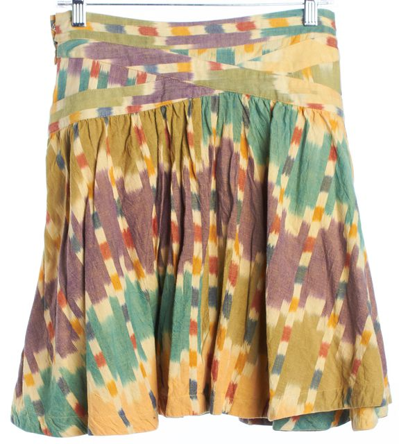 MARC JACOBS Multi-color Abstract Faux Wrap Skirt