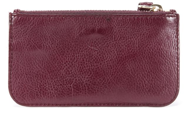 MARC JACOBS Dark Purple Leather Mini Coin Purse Wallet