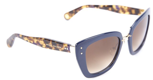 MARC JACOBS Blue Metal & Acetate Cat Eye Gradient Len Sunglasses