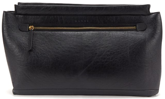 MARNI Black Leather Large Slouchy Clutch Bag