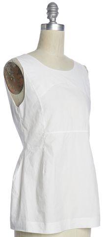 MARNI White Sleeveless Cotton Blouse