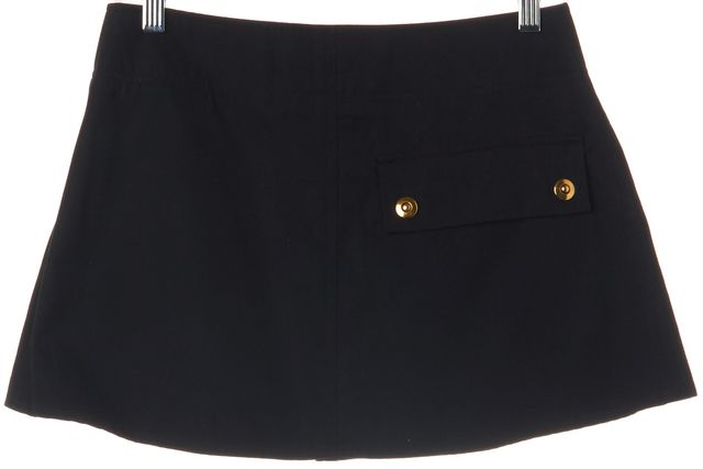 MARNI Black Cotton Pocketed Mini Skirt Size 6 IT 42