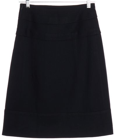 MARNI Navy Blue Wool A-Line Skirt