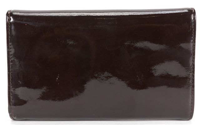 MARNI Brown Patent Leather Trifold Wallet