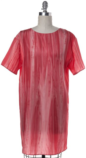 MARNI Pink Tie Dye Print Nylon Shift Dress