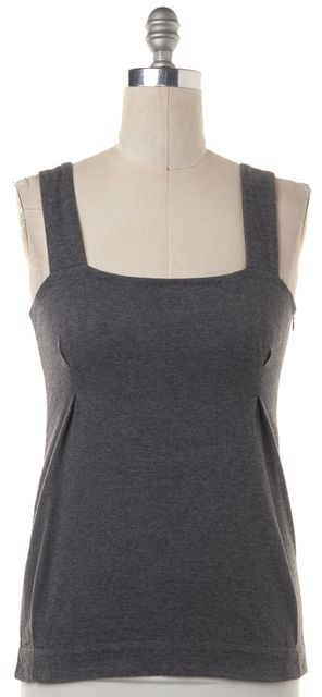 MARNI Gray Pleated Wool Knot Sleeve Knit Tank Top