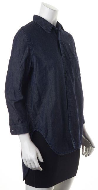MARNI Blue Denim Button Down Shirt Blouse