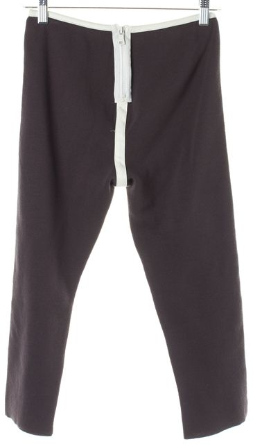 MARNI Gray White Tuxedo Stripe Knit Cropped Leggings