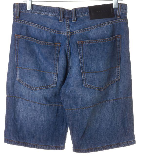 MARNI Blue Stretch Cotton Bermuda Denim Shorts