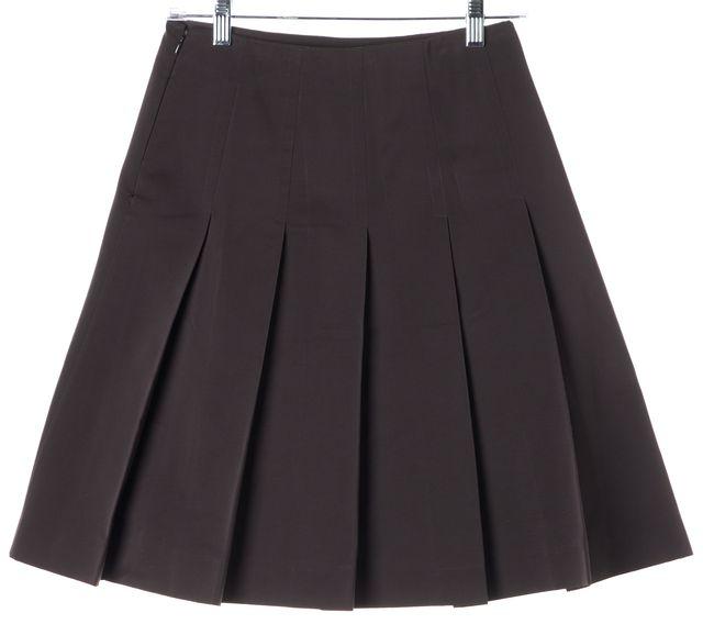 MARNI Brown Pleated Skirt