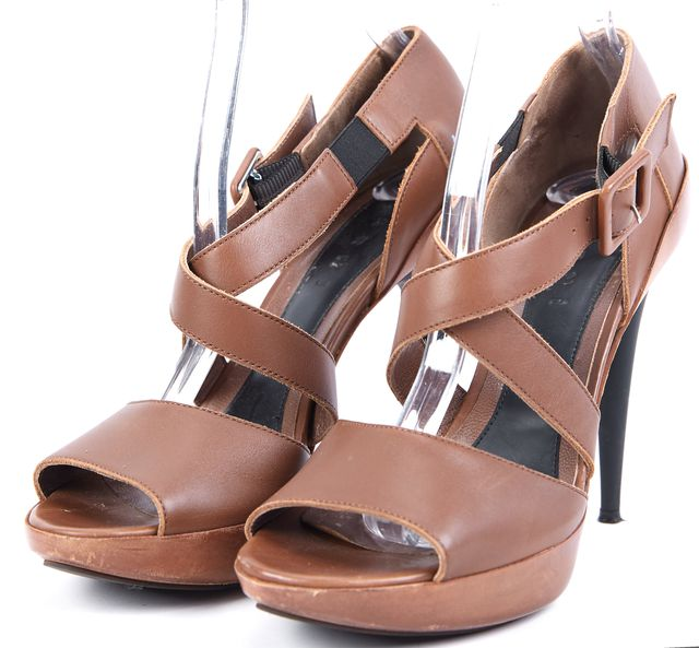 MARNI Brown Leather Platforms & Wedges Heels