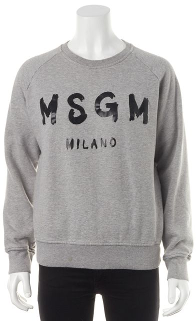 MSGM Heather Gray Printed Sweatshirt