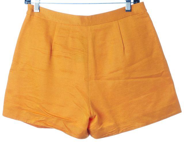 MSGM Orange Pleated Trouser Dress Shorts