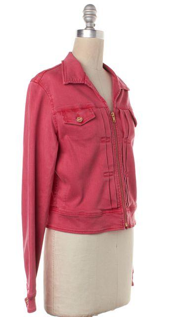 MOTHER Pink Denim Zip Up Basic Jacket