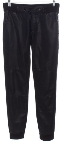 MOTHER Black Drawstring Casual Pants