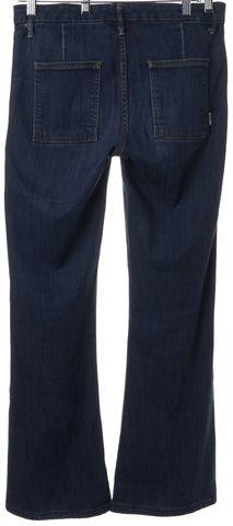 MOTHER Blue Medium Wash Flare Leg Jeans