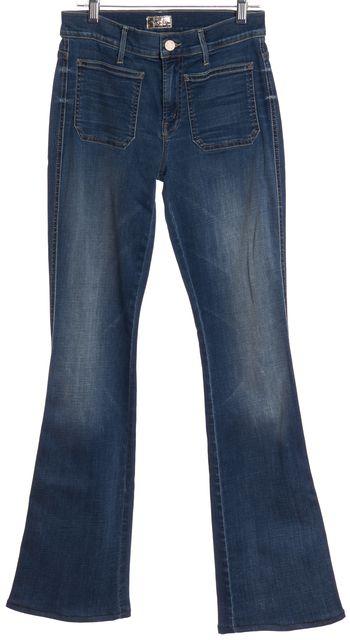 MOTHER Medium Wash Flare Leg Jeans