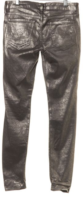 MOTHER Coated Silver Casual Pants