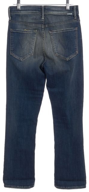 MOTHER Blue Straight Leg Jeans