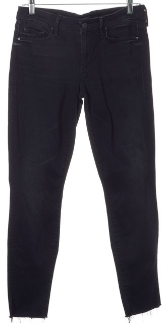 MOTHER Blue Slightly Sinful The Looker Ankle Fray Skinny Leg Jeans