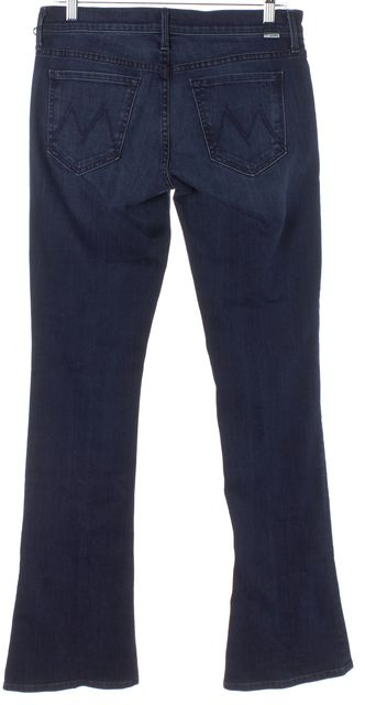 MOTHER Blue Montana Sky The Runaway Mid-Rise Boot Cut Jeans