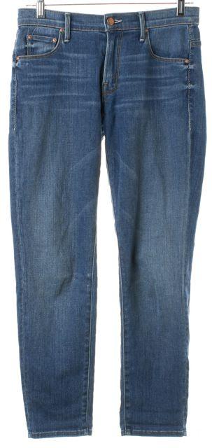 MOTHER Blue Skies Tomorrow Stretch Cotton Denim Skinny Not Skinny Jeans