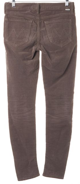 MOTHER Brown Stretch Cotton Looker Corduroys Pants