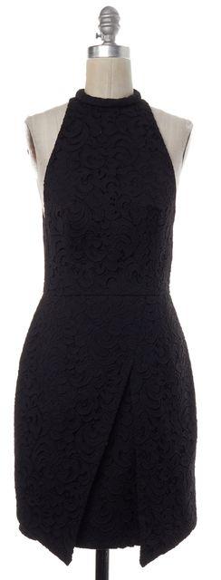 NICHOLAS Black Lace Sleeveless Sheath Dress