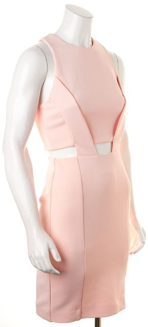 NICHOLAS Pink Cut-Out Waist Sleeveless Bodycon Sheath Dress