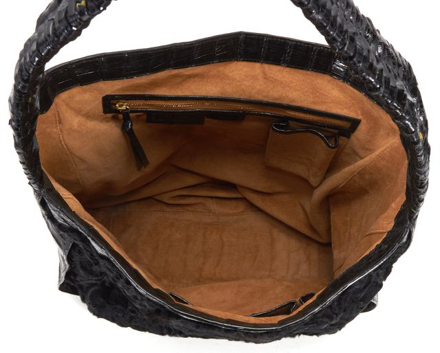 NANCY GONZALEZ Black Shoulder Bag Hobo Bag