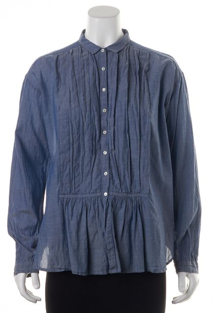 NILI LOTAN Blue Blouse Top