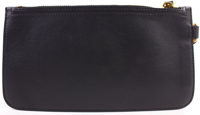 NINA RICCI Black Leather Wristlet