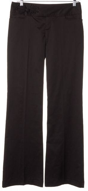 NANETTE LEPORE Chocolate Brown Trouser Dress Pants