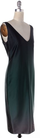 NARCISO RODRIGUEZ Green Silk Sheath Dress