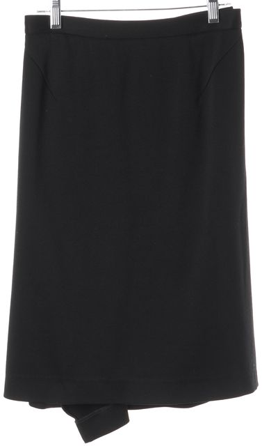 NARCISO RODRIGUEZ Black Wool A-Line Skirt US 4 IT 38