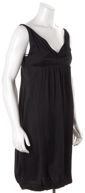 NARCISO RODRIGUEZ Black Sleeveless Pleated Empire Waist Dress