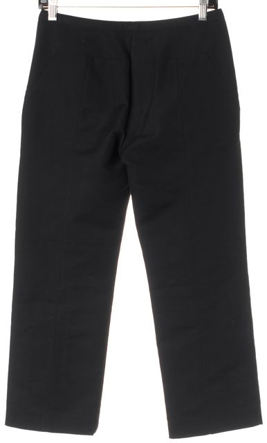 NARCISO RODRIGUEZ Black Wool Cropped Trouser Dress Pants